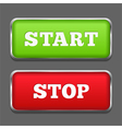 Start Stop Buttons vector image