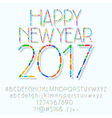 Mosaic Happy New Year 2017 greeting card vector image