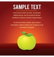Template with Green Apple vector image vector image
