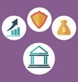 building bank security finance inverstment dollar vector image
