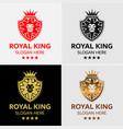 Lion king crest logo template vector image