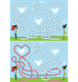Love maze vector image vector image