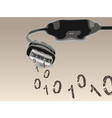 USB cable vector image vector image