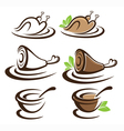 collection of food symbols vector image vector image