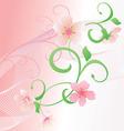 pink flower vector image vector image