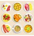 Main Dishes Set vector image