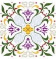 Seamless pattern with ornament floral vector image vector image