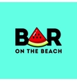 Logo with the image of a piece of watermelon vector image