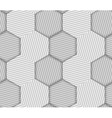 Abstract Striped Hexagons Geometric Seamless vector image
