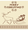 Christmas deer doodles vector image