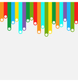 Colorful stripes template background vector image