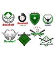Creative baseball sports emblems and symbols vector image