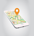 gps on smartphone vector image