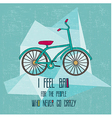 Hipster bicycle vector image