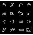 line seo icon set vector image