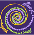 mardi gras background with purple green and vector image