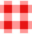 red and white gingham tablecloth seamless pattern vector image