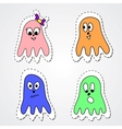 Set of four octopuses vector image