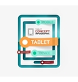 Tablet infographic scheme with tags vector image