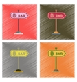 assembly flat shading style icons sign of bar vector image