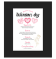 Menu flyer for Valentine Day dinner vector image