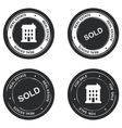 Set of real estate stamp vector image vector image