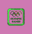 sign symbol olympics games in hatching style vector image vector image