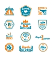 Set of bicycling label vector image vector image