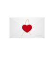 heart letter 01 vector image