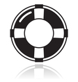 Help - life belt black icon vector image