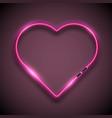 bright neon sign in form of heart retro neon vector image