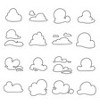 clouds shapes vector image