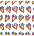 Colorful pastel diamond brilliant stone Seamless vector image