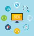 concept of seo vector image