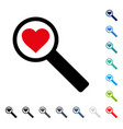 find love icon vector image
