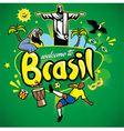 greeting series welcome to brasil vector image