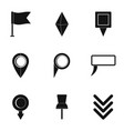 road mark icons set simple style vector image