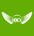 rock icon green vector image