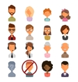 Set of people portrait face icons web avatars flat vector image