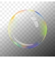 Transparent soap bubble vector image