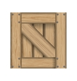 Wood material box square icon graphic vector image