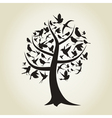 Tree a bird4 vector image vector image