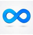 Abstract infinity blue sign vector