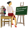 school teacher vector image vector image