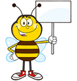 Protesting Bumble Bee Cartoon vector image