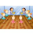 Little Dancing Kids vector image vector image