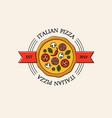 bright italian pizza logo vector image