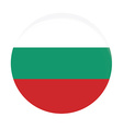 Bulgarian flag vector image