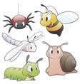 Cartoon Garden Animals vector image