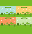 forest trees landscape vector image
